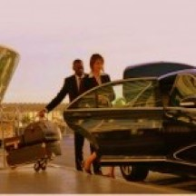 Image of person getting into CT Limo sedan at airport