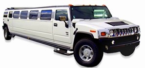 Image of Limousines of Connecticut white Hummer limousine