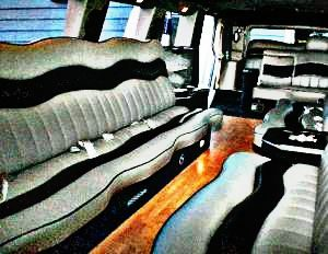 Picture of interior of Hummer Limousine
