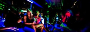 Party Bus Limo Interior CT image