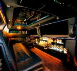 Picture of inside of CT limousine
