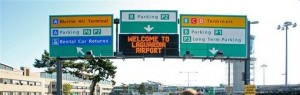 connecticut limousine to laguardia, jfk, ewr, hpn, bdl, bos airports road signs photo
