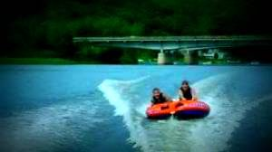 Picture of people tubing on a Monroe lake