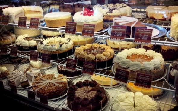Cheesecake factory desserts in CT image