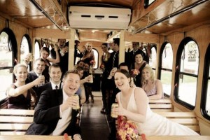wedding in a party bus in connecticut