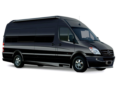 executive van by mercedes sprinter, seating capacity up to 14 passengers image