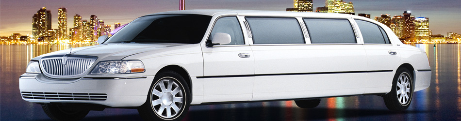 8 Passenger Stretch Limousine In White