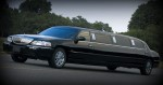 10 Black passenger lincoln stretch limousine